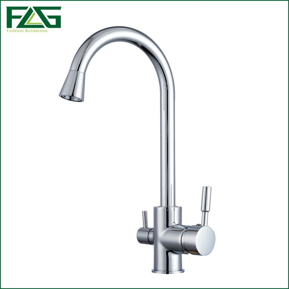 online get cheap kitchen water faucets aliexpress com alibaba group flg hot sale 3 way tap kitchen water drinking water faucet chrome kitchen taps mixer water