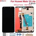Huawei Коврики 10 Lite ЖК-дисплей Дисплей + Сенсорный экран 5,9 дюйма Стекло экрана цифрователя Панель сборки Замена для huawei mate 10 Lite - фото