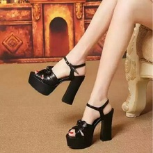 4 Colors Size #35-39 Beautiful Famous Brand Super Lady High Heel Sandals Sexy Ladies Platform Pumps Woman Party Shoes ML2757