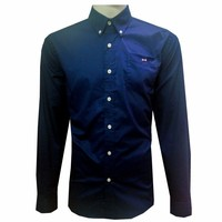 Eden Park new arrived 2017 casual mens shirts brand long sleeve embroidery men dress shirts navy blue male shirts 182