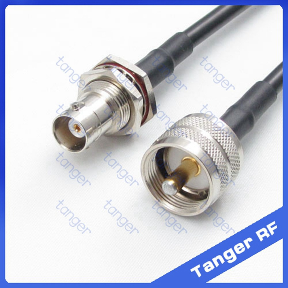 Tanger BNC female jack front with nut to UHF male plug PL259 straight RF RG58 Pigtail Jumper Coaxial Cable 20inch 50cm NewTanger BNC female jack front with nut to UHF male plug PL259 straight RF RG58 Pigtail Jumper Coaxial Cable 20inch 50cm New