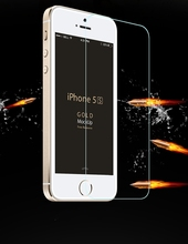 50pcs lot 0 3mm Thin Premium Tempered Glass For iphone 5s case Screen Protector film pelicula