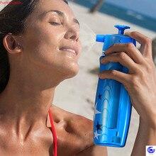 700ml creative spray water bottle 3 ways gun/ sprinkled / mist sport  plastic outdoor Cycling kettle portable durable drinkware