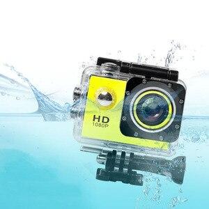 Image 3 - 1080P HD في الهواء الطلق كاميرا عمل رياضية صغيرة كاميرا ip مقاومة للمياه كام DV gopro نمط الذهاب برو مع شاشة كامل اللون مقاومة للماء