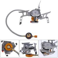 Portable Outdoor Folding Gas Stove Camping Equipment Hiking Picnic 3000W Igniter Camping Gas Stove Foldable Butane Furnace