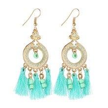Fashion Tassel Earrings Water Droplets Channeling Ear Rings Long Retro Earring Accessories For Women