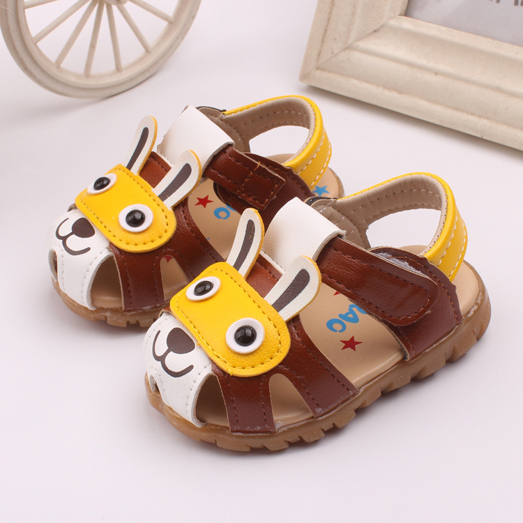 2018 Newborn Baby Sandals with Led Light Infant Toddler Sandals Leather Flash Hollow Soft Bottom Kids Shoes