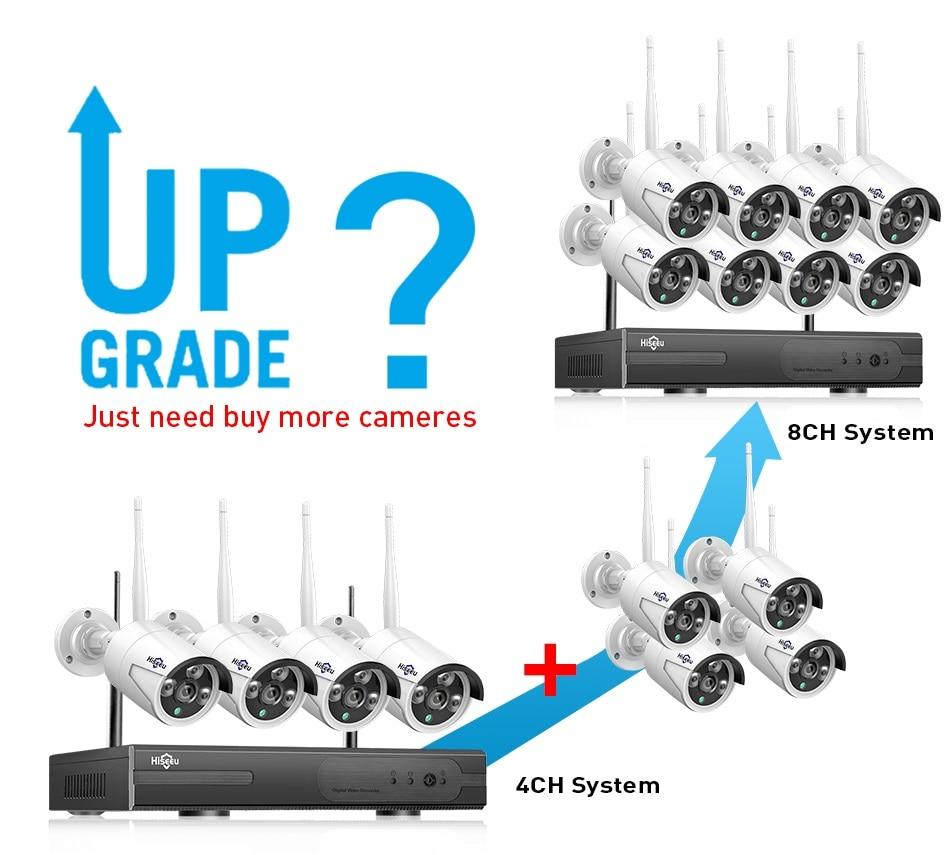 Hiseeu 8CH Wireless CCTV Security System 11