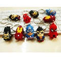 Hot Movie Marvel Keychain Llavero Avengers Superhero SpongeBob Captain America Batman Spider Iron Man Patricio Fashion Jewerly