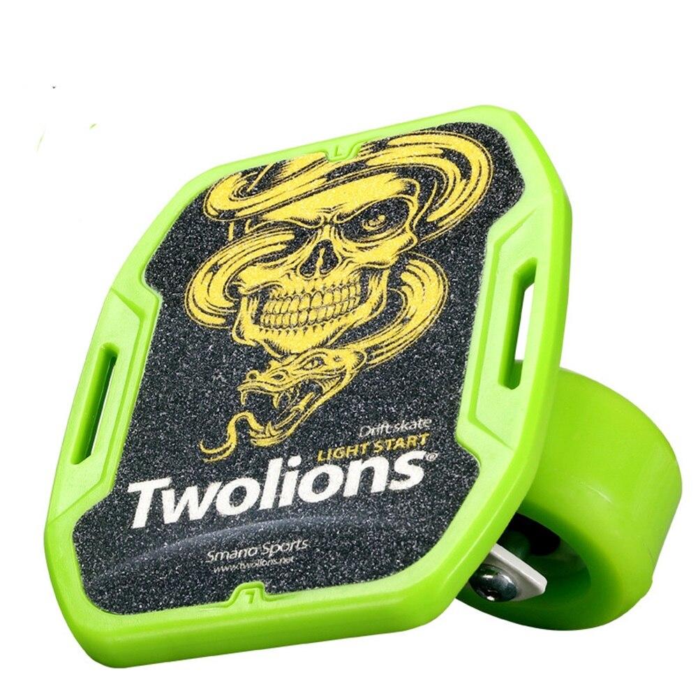 SPORTSHUB 1 paire planche à roulettes dérive planche pour rouleau route dérive plaque antidérapant Skateboard sport ABS pédale roues en polyuréthane CS0016 - 4