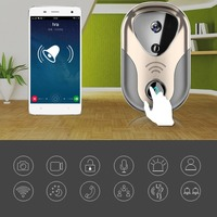 LESHP Wireless Doorbell Intelligent WIFI 720P Visual Electronic Network Intercom Video Camera Smart Door Ring PIR Alarm Cameras
