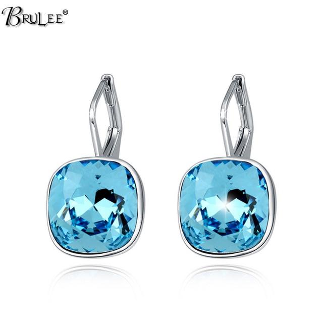 2017 New Fashion The ear clip Earrings for women stud crystal From Swarovski Elements crystal ear cuff earrings jewelry