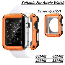 PC Watch Case For Apple Watch Series 4/3/2/1 2-in-1 Case For Easy Disassembly And Assembly Case For Iwatch Series 44/42/40/38mm hoco defender series plating pc cover for apple watch 38mm series 1 series 2 black