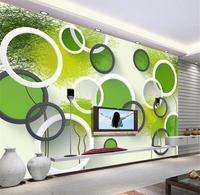 3d خلفيات الصورة حجم غرفة جدارية مخصصة 3d مجردة الأخضر شجرة اللون hd اللوحة أريكة غرفة التلفزيون خلفية غير المنسوجة جدارية