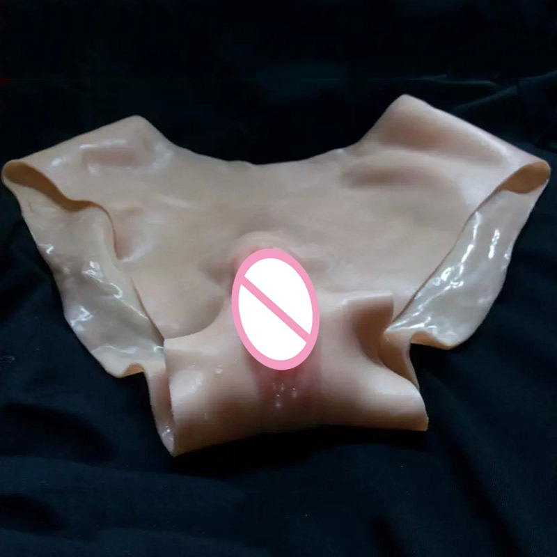 Silicone Artificial Fake Vagina Underwear Transsexual Shemale Drag Queen Vagina Panties for Transgender and Crossdressing Size L
