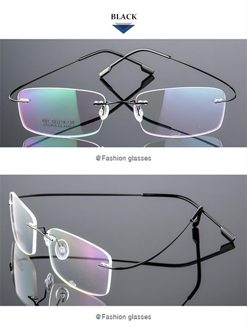 fc445016ff 2019 UVLAIK Rimless Titanium Eyeglasses Frames Women Men Flexible ...