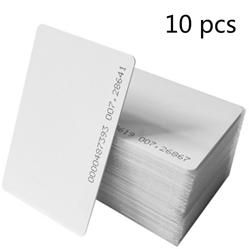 FGHGF 10pcs/lot rfid card 125khz TK4100 blank smart card EM4100 ID pvc card with UID series number for access control system 200pcs track 1 2 and 3 magnetic stripe blank card for school library management access control