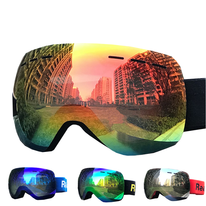 Reedocks Double Layers Anti-fog Ski Goggles Winter Snow Snowboard Goggles Anti Fog Men Women Snowmobile Skiing Skating Mask