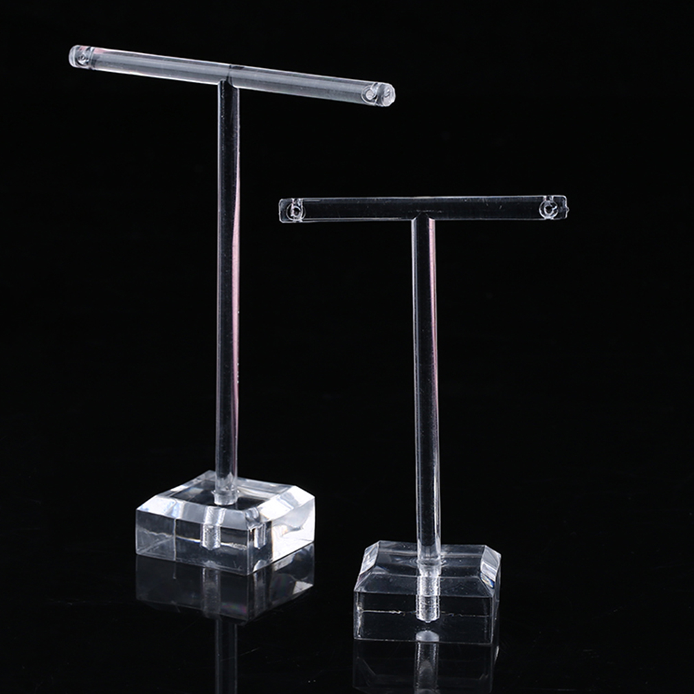 2pcs/Set Clear Plastic Earrings Showcase Display  Earrings Display T Bar Stand Holder Organizer Jewelry Display Hot Sales