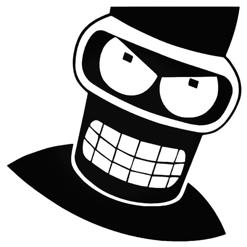Angry Bender Futurama funy For Auto Car/Bumper/Window Vinyl Decal Sticker Decals DIY Decor CT3171