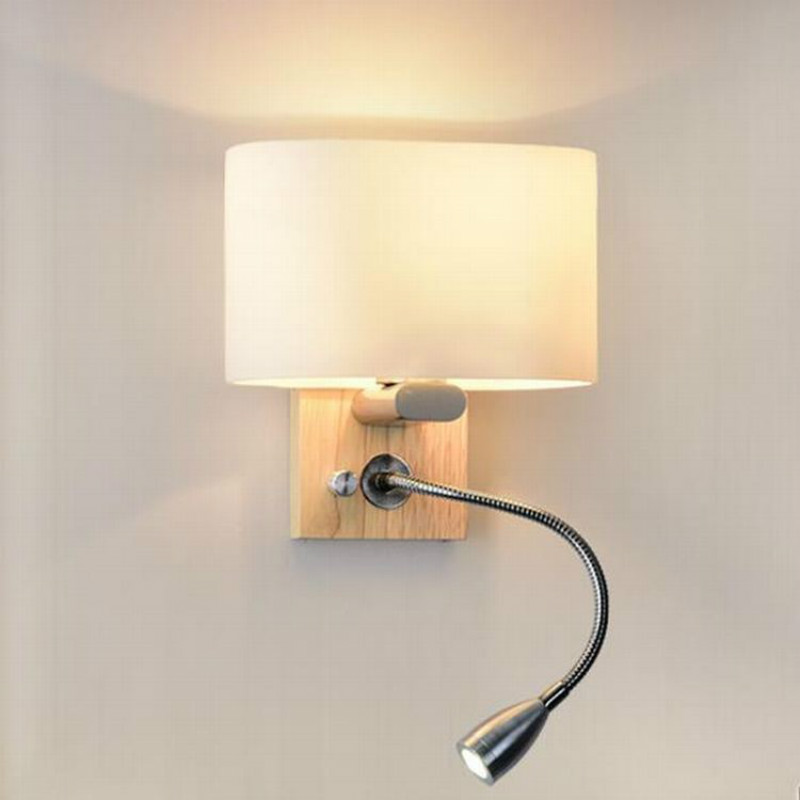Modern Wood Wall Lamp White Glass Lampshade Wall Sconce For Home Lighting Bathroom Bedroom Corridor Deco Light FixtureModern Wood Wall Lamp White Glass Lampshade Wall Sconce For Home Lighting Bathroom Bedroom Corridor Deco Light Fixture