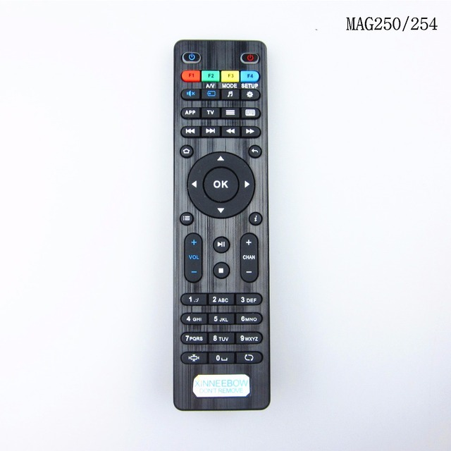 US $4 41 30% OFF|Brand New Remote control for 250 254 IPTV Box Linux System  TV Box Remote controller Replacement Remote Control-in Remote Controls