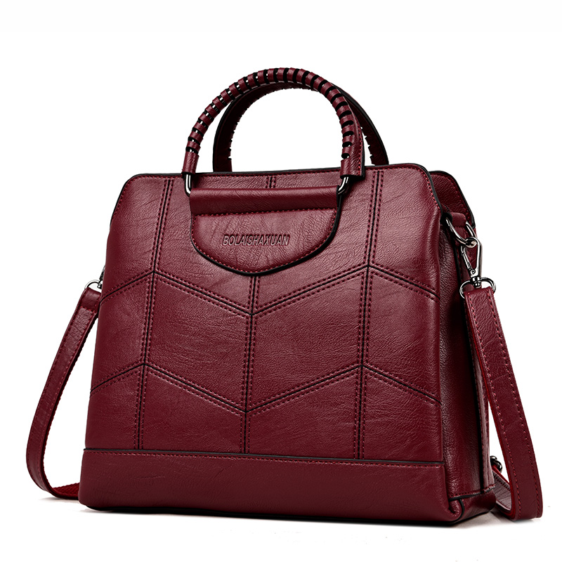 Fashion Pu Leather Women Shoulder Bags Famous Designer Vintage Tassel Large Women Messenger Bags Ladies Tote Bags Sac