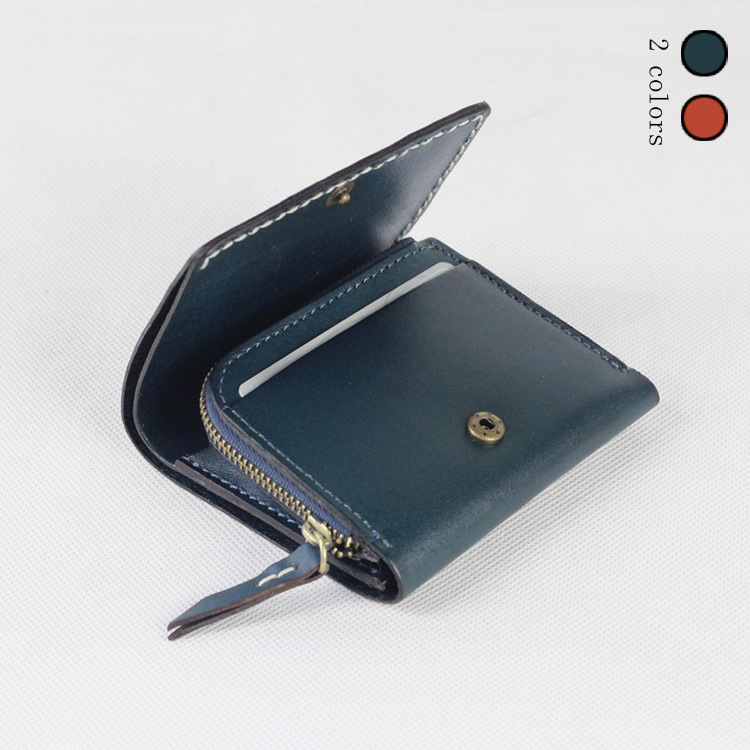 ФОТО head layer Handmade short paragraph imported vegetable tanning Leather style hand stitching wallet QS416 FREE SH
