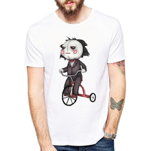 2018 New T Shirt Fashion Print Saw Killers T-shirt Men Puppet Tee Shirts Camisetas Harajuku Tops