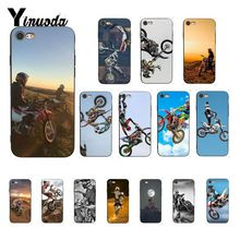 Yinuoda Moto Cross motorcycle sports Cover Black Soft Shell Phone Case for iPhone 5 5Sx 6 7 7plus 8 8Plus X XS MAX XR 10