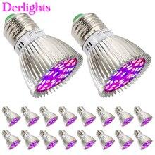 20 יח\חבילה 28W Led לגדול אור ספקטרום מלא E27 צמח צמיחת LED מקורה גן הידרופוניקה חממה צמח פרח Vegs