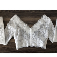 High Quality Long Sleeves v neck Bridal bolero women Wedding Wraps Bolero  mariage jacket for evening f965520ee1a4