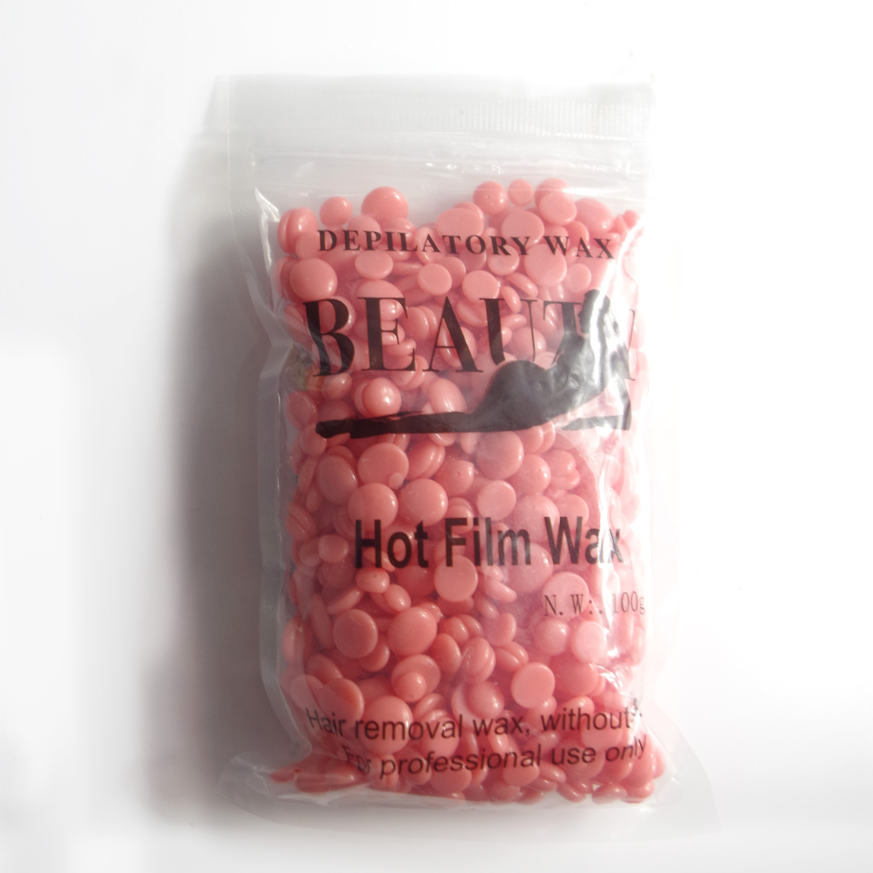 100g Strawberry Wax Hard Beans for Depilation Remover No Str