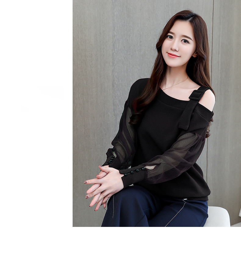2019 Spring New Long Sleeve Shirt Women Fashion Woman Blouses Sexy Off Shoulder Top Solid Women Blouse Shirt Clothing Female (7)