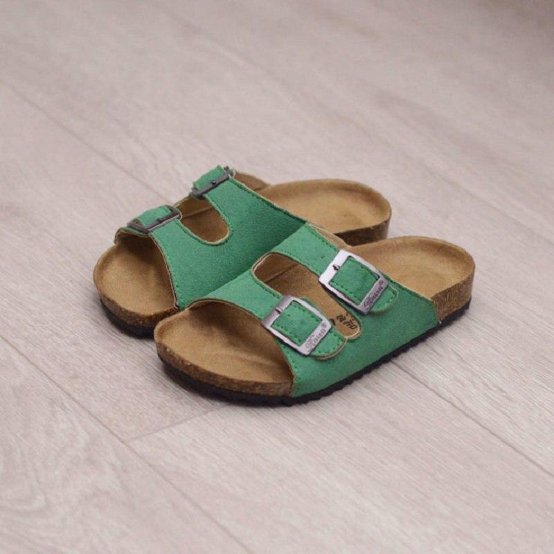 Sommer Kinder Sandalen 2018 Neue Design Kinder schuhe Kork Strand Weichen leder hausschuhe für Jungen Mädchen strand sandalen größe 22 ~ 37