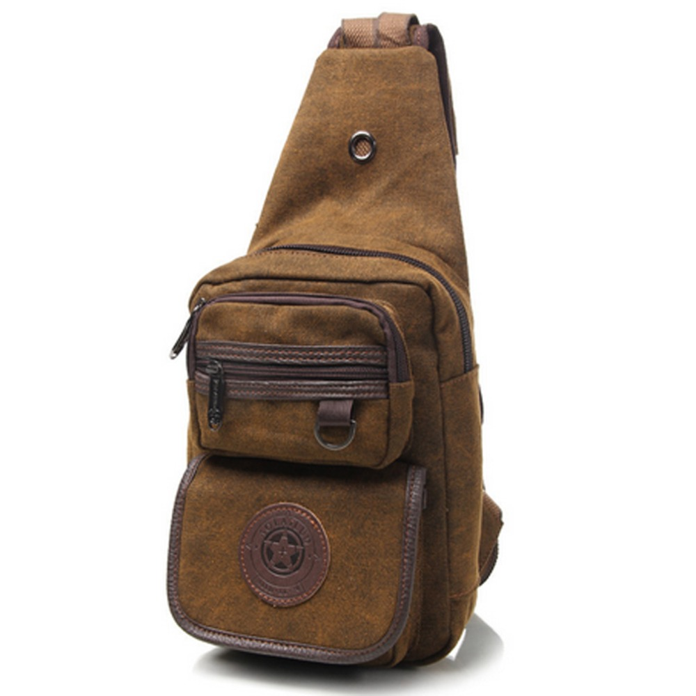 Men's Canvas Travel Riding Motorcycle Messenger Shoulder  Cross Body Sling Chest Casual Bag Day Pack men canvas high capacity travel motorcycle cross body messenger shoulder back pack sling chest casual bag