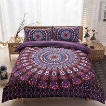 Bohemia Totem Printing Bedding Set Flower Bed Linen 3 pcs/set Duvet Cover Pastoral Sheet AB Side