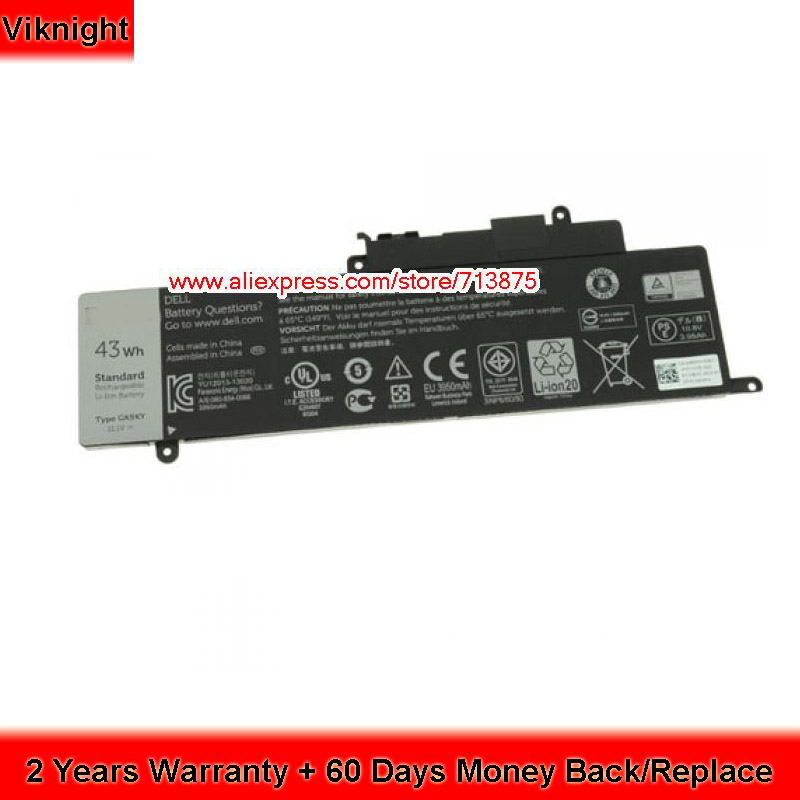 GK5KY Laptop Battery for Dell Inspiron 13 7347 13 7000 p57g001 04K8YH 11.1V 43Wh new original 11 1v 43wh d2vf9 0pxr51 battery for dell inspiron 15 7547 free shipping