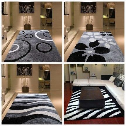 Encrypted Thickening Bright Silk Living Room Coffee Table Carpet Bedroom Bedside Carpet Simple Modern Style Pattern Custom Carpe