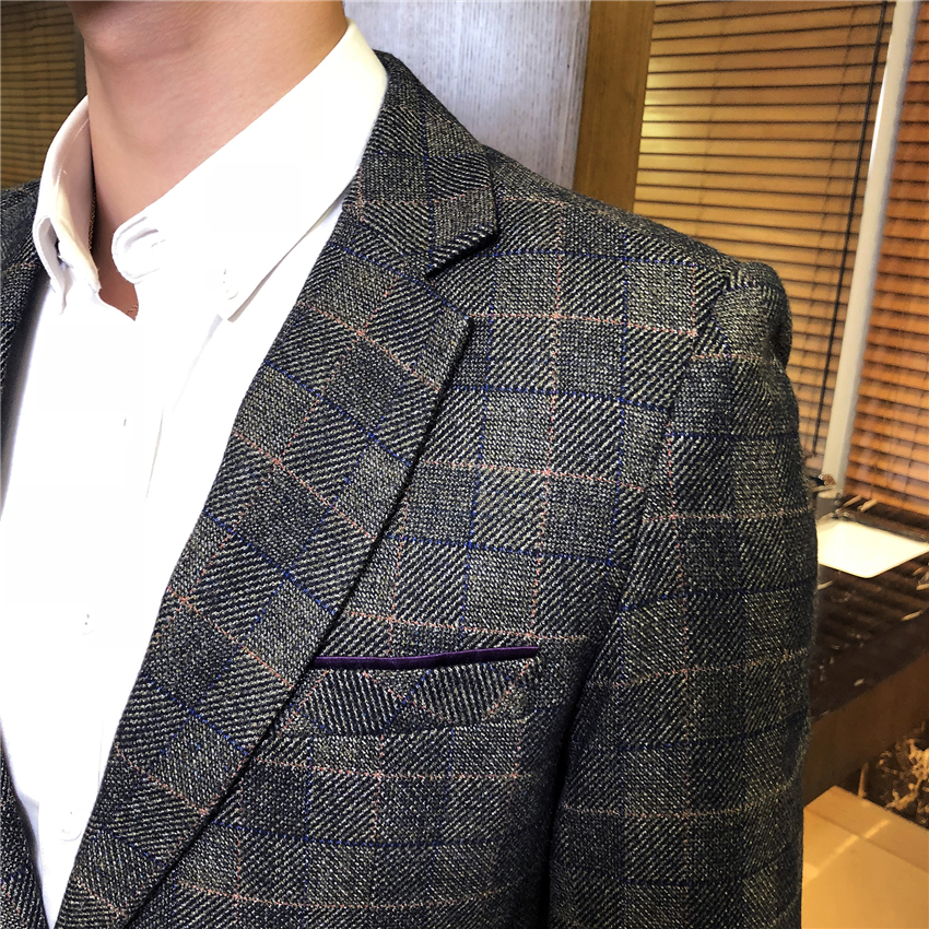 Taille Décontractée Costume Gray Bleu dark Blazers D'affaires marine 3xl Mâle Hommes Vestes Automne Longues Manteaux À Manches S 2018 Coffee dhtrsQC