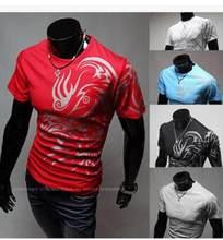 e206c7d0 Classical Leisure Print T Shirts Men'S Novelty Dragon Printing Tees Male O Neck  T Shirts Short Sleeve Random Color Tshirt K906