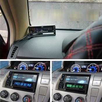 7c7de58ca200 3 en 1 LCD Dislay coche termómetro Digital del voltímetro del Monitor reloj  termómetro de tensión de la batería Monitor de temperatura del medidor