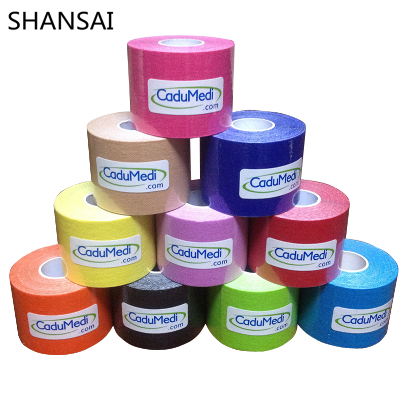 5cm x 5m Kinesiology Kinesio tape Roll Cotton Elastic Adhesive Sports Muscle patch Tape Bandage Physio Strain Injury Support