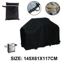 BBQ Cover 145*61*117cm Barbecue Cover Grill Covers Waterproof Outdoor Rain Protector For Gas Proof Barbecue Protection Shield