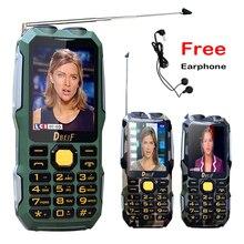DBEIF D2016 voix magique Double lampe de poche FM 13800 mAh mp3/mp4 puissance banque antenne Analogique TV téléphone mobile Robuste cellulaire P242