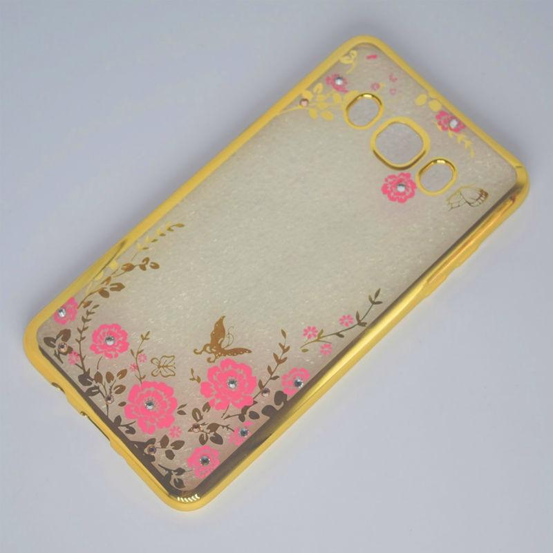 Lyxig blomma diamantplätering stötfodral fodral fodral för Samsung - Reservdelar och tillbehör för mobiltelefoner - Foto 5