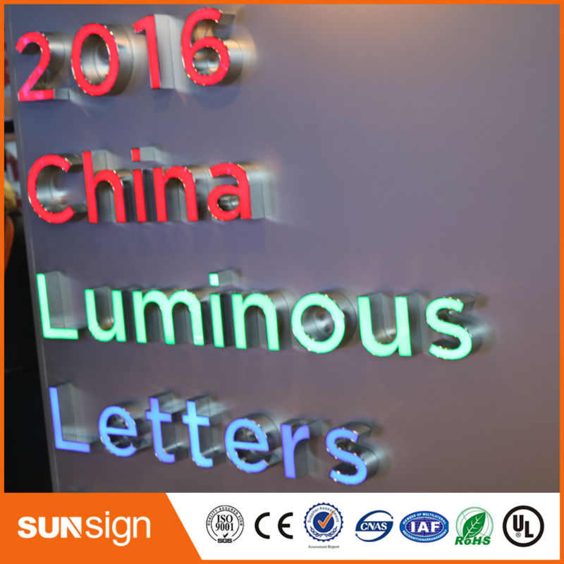 Оптовая продажа из нержавеющей стали Chrome Metal LED 3D буквы