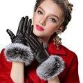 2016 моды кожаные перчатки, несколько Цвет, зимние перчатки, женские кожаные перчатки, зимние перчатки женщин