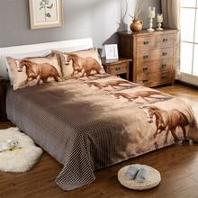 3D Horse Bedding Set Animal Print Duvet Cover Classic Bedclothes Bed Sheet Pillowcase Comforter ropa de cama J25