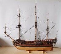RealTS классическая деревянная парусная лодка 1/96 ingermanland 1715 сборка деревянная лодка комплект